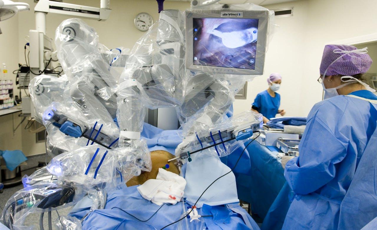 Chirurgen in het Antoni van Leeuwenhoek Ziekenhuis in Amsterdam.