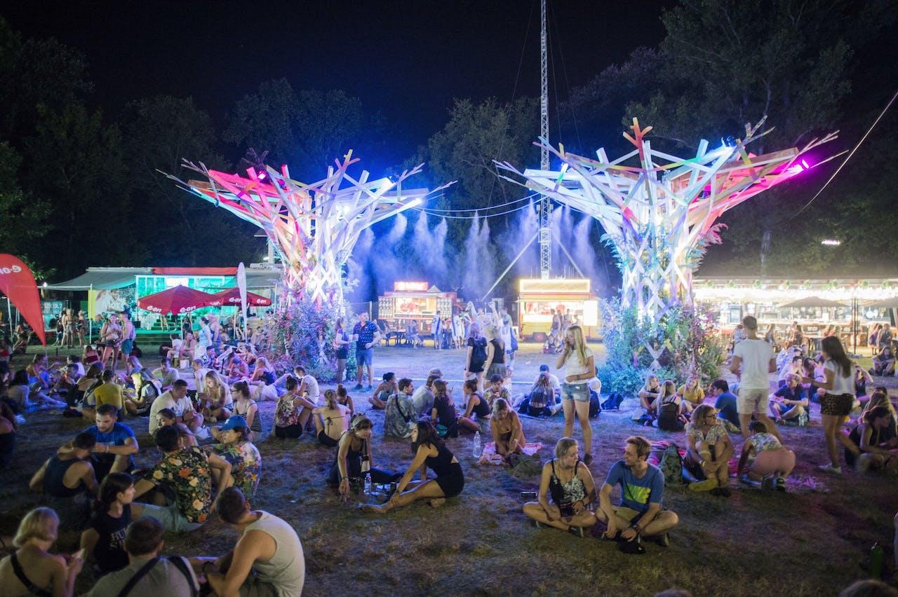 Het 26e Sziget Festival in het Hongaarse Boedapest.
