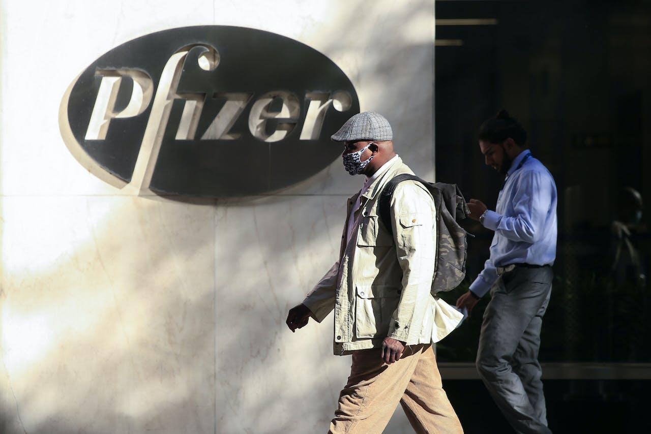 Het hoofdkantoor van Pfizer in New York.