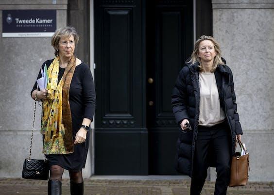 Verkenners Annemarie Jorritsma (VVD) en Kajsa Ollongren (D66).
