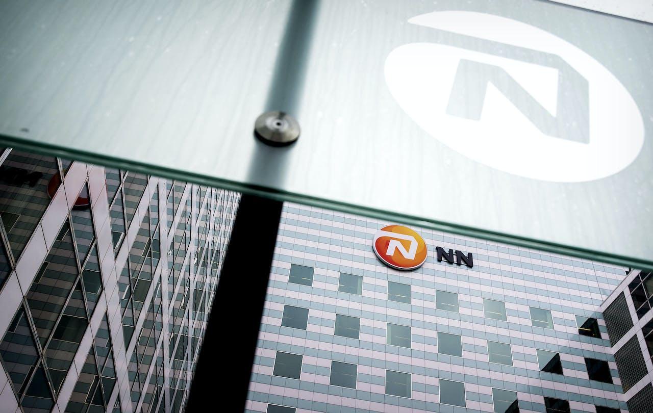 2017-02-16 13:31:43 DEN HAAG - Exterieur van NN Group voorafgaand aan de toelichting op de jaarcijfers van de verzekeraar. ANP KOEN VAN WEEL