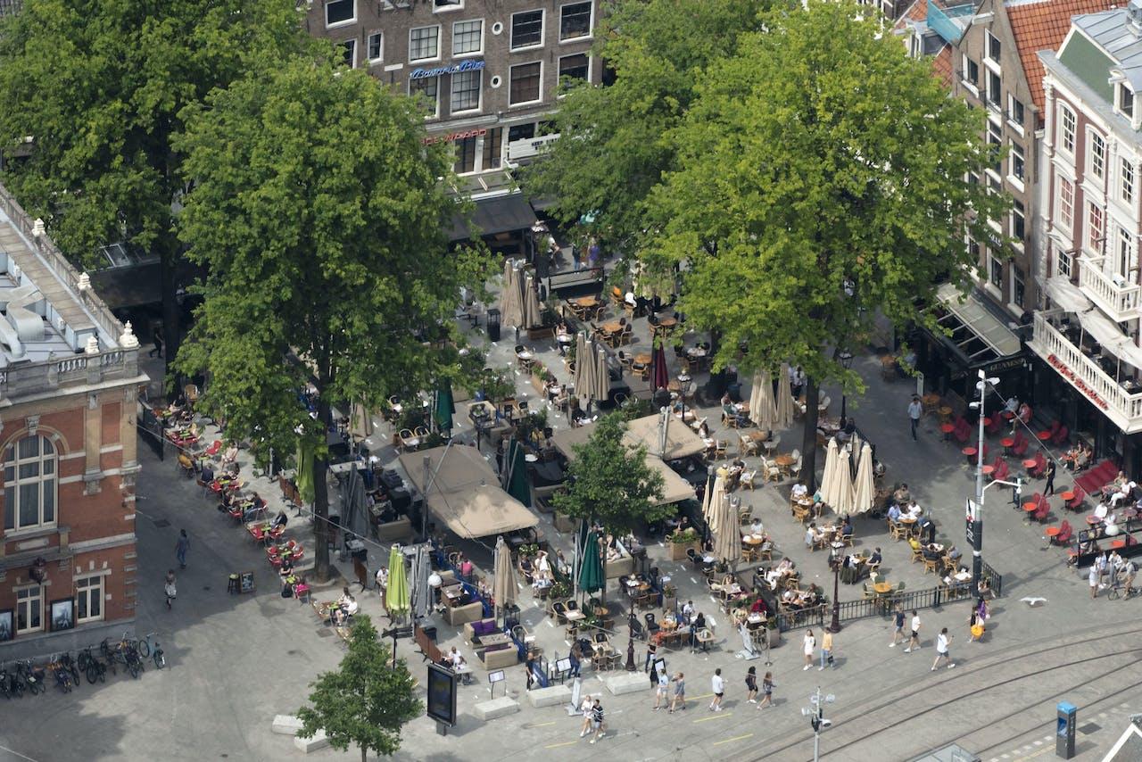 Het Leidseplein in Amsterdam