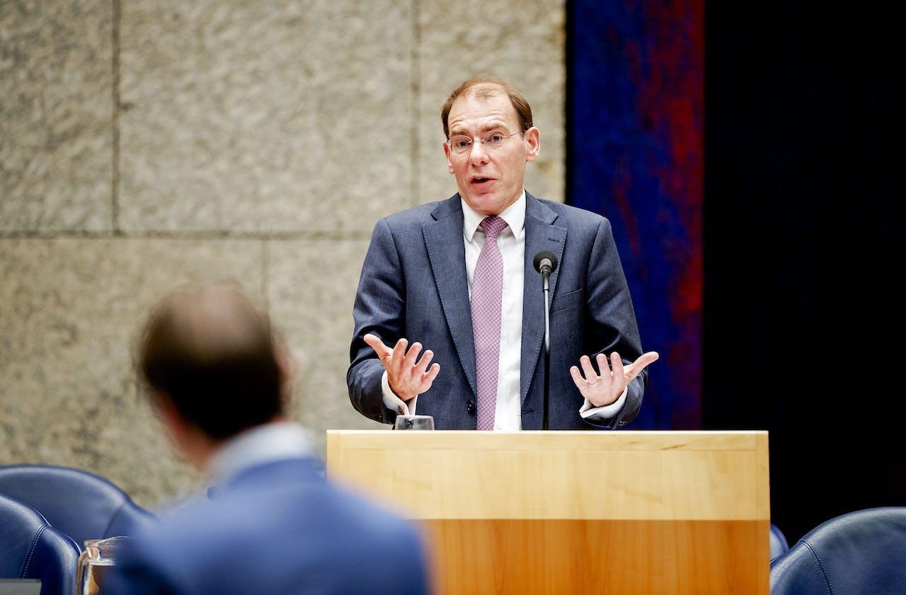 DEN HAAG - Staatssecretaris Menno Snel van Financien tijdens het debat in de Tweede Kamer over het optreden van de Belastingdienst in de affaire rond kinderopvangtoeslagen.