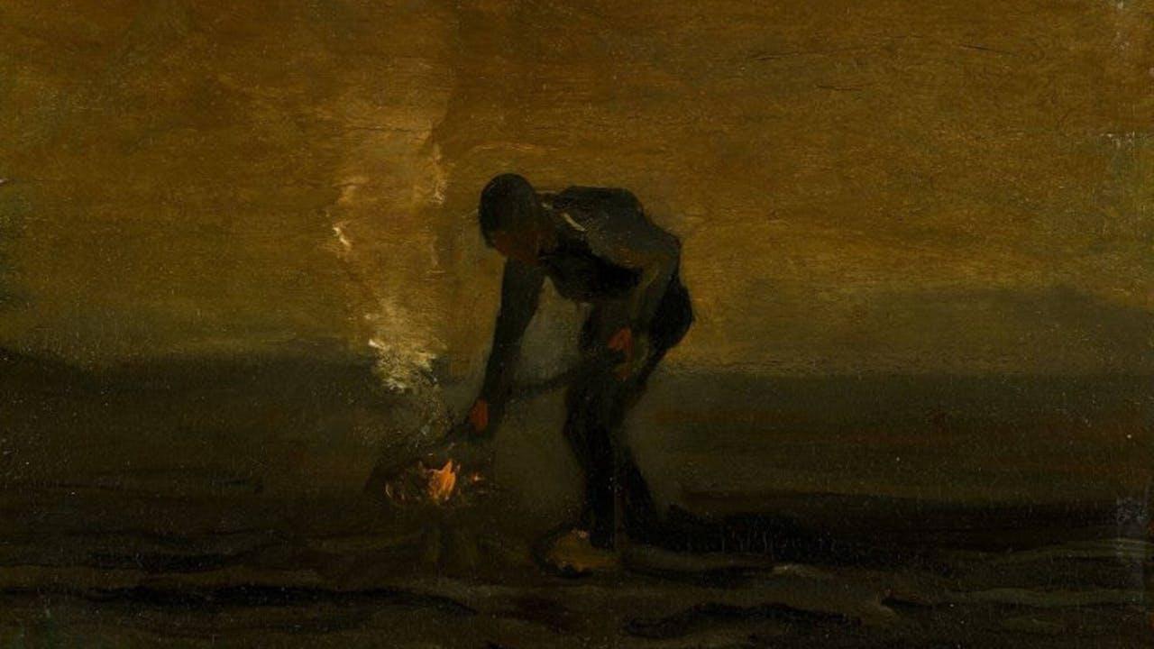 Vincent van Gogh - Onkruid verbrandende boer (1883)