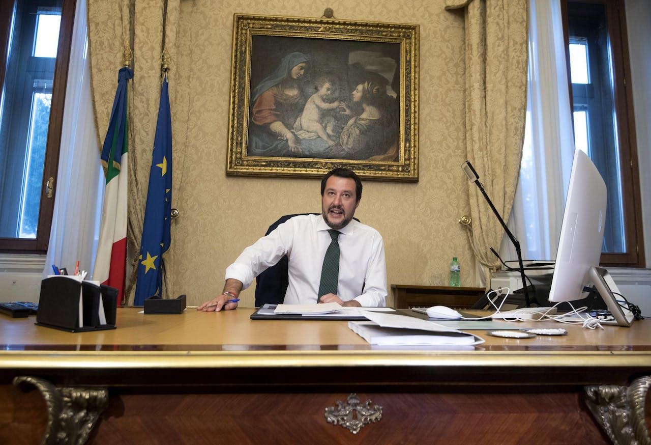 Matteo Salvini, de nieuwe minister van Binnenlandse Zaken van Italië
