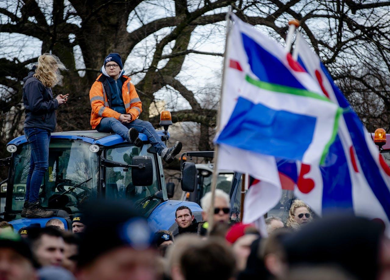 Boeren demonstreren op de Koekamp tegen het stikstofbeleid van het kabinet.