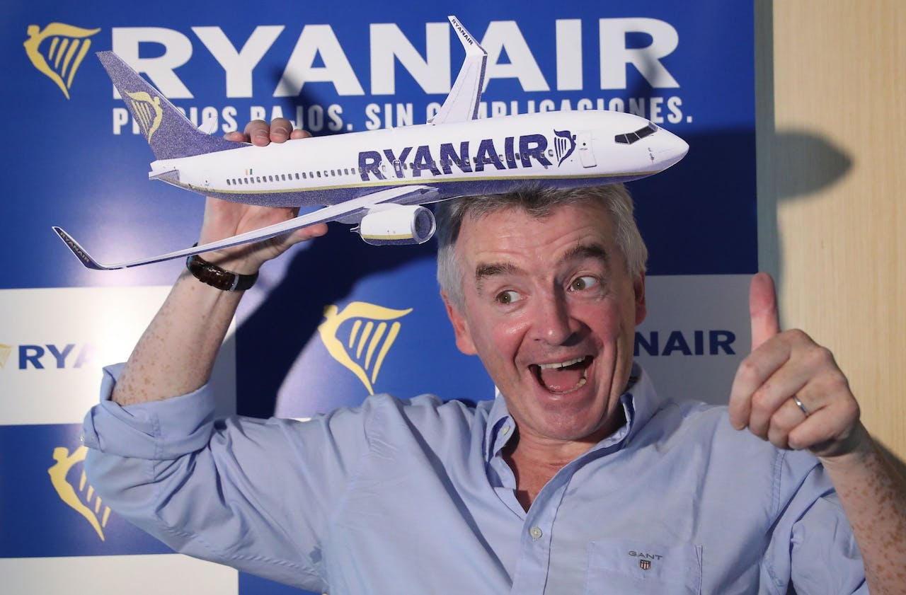 2017-08-24 00:00:00 epa06159471 Irish low cost airline Ryanair's CEO, Michael O'Leary, as he addresses a press conference in Madrid, Spain, 24 August 2017. O'Leary announced that the company was not affected by terrorist attacks committed in Barcelona and Cambrils several days ago as the prices were 'automatically' reduced. He added that the fares lowered between five - seven percent in its fights to Barcelona after terrorist attacks, causing 15 deaths and more than one hundred other injured. EPA/Chema Moya