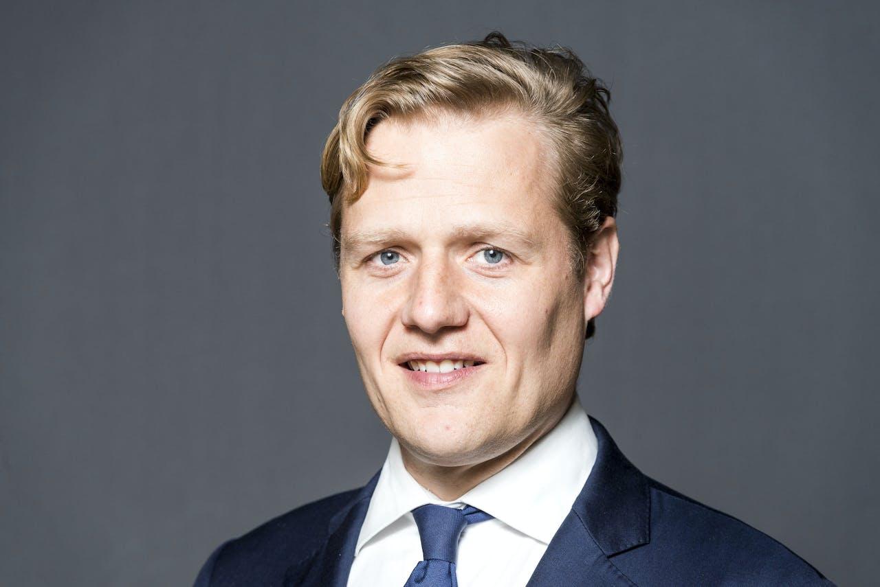 Portret van Jan Middendorp, Tweede Kamerlid voor de VVD.