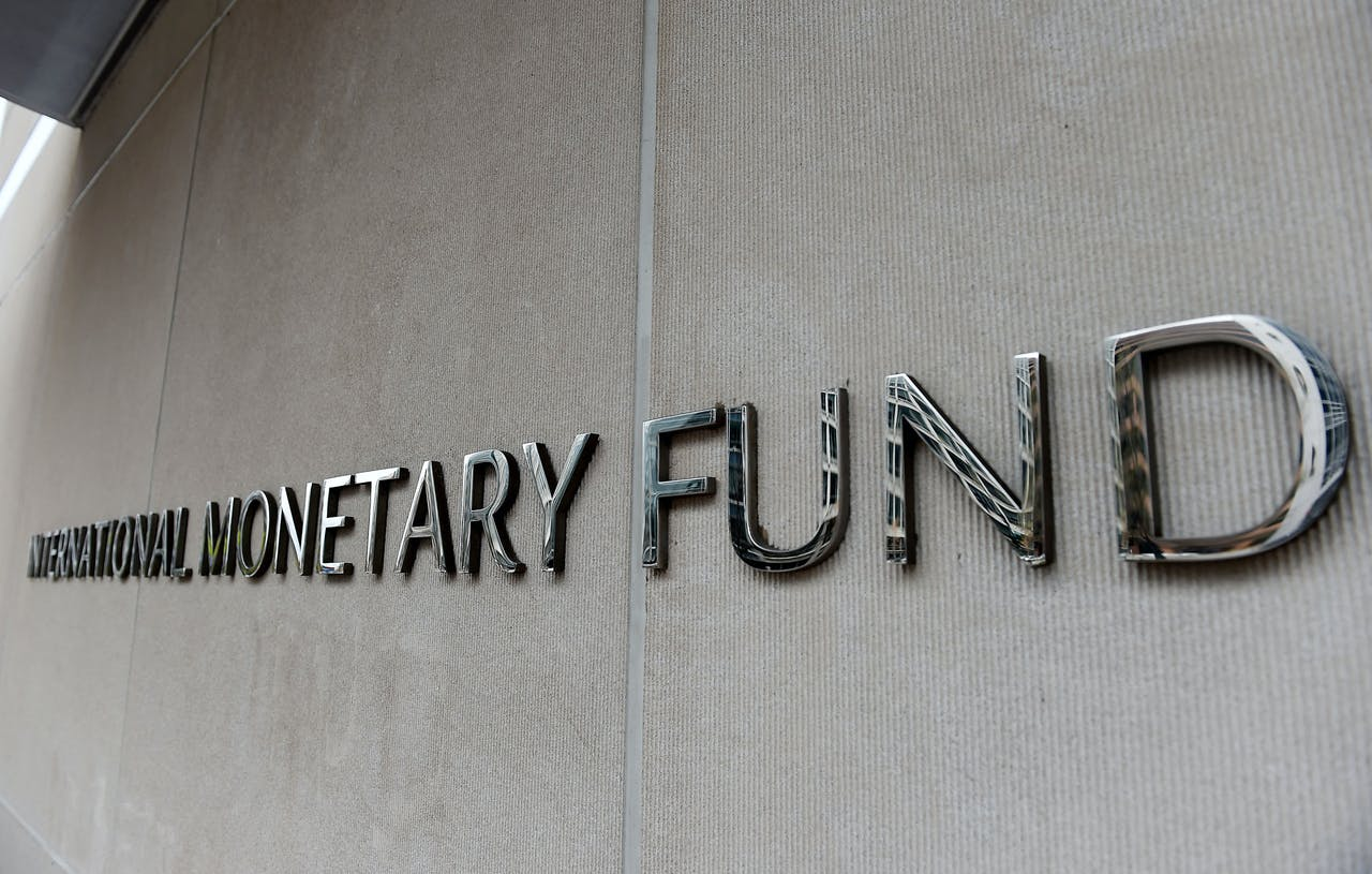 Het IMF-gebouw in Washington