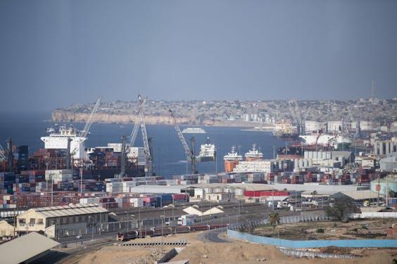 De haven van de Angolese hoofdstad Luanda