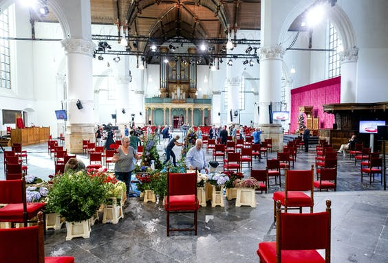 De Grote Kerk, in aanloop naar Prinsjesdag.