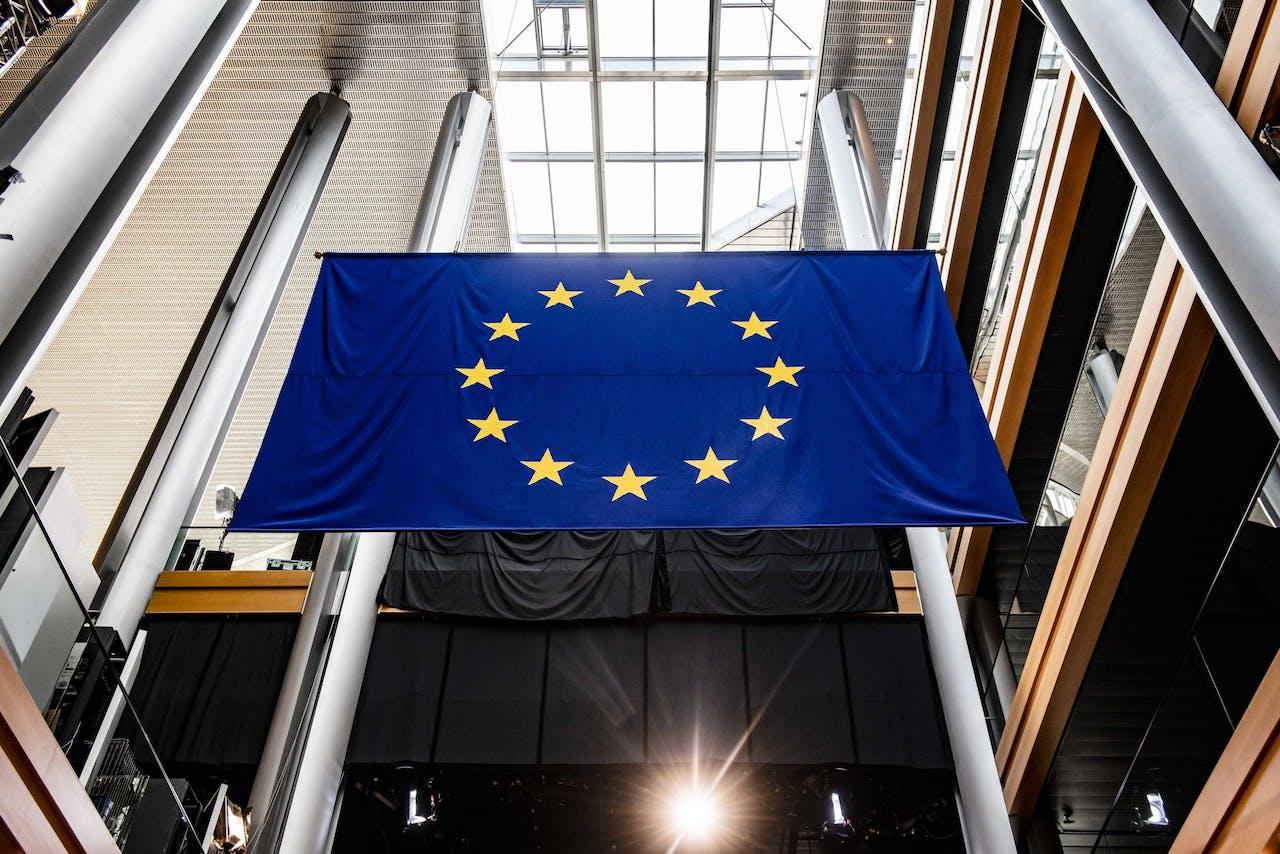 STRAATSBURG - Illustratiebeeld gemaakt bij het Europees Parlement voor een toespraak over de Nederlandse visie op de toekomst van de Europese Unie. ANP JONAS ROOSENS