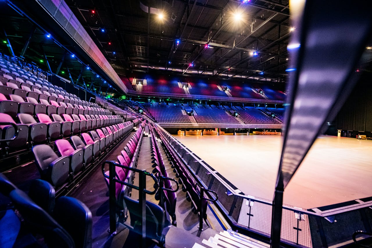 AMSTERDAM - Concerthal Ziggo Dome staat leeg doordat concerten en festivals tijdelijk zijn afgelast vanwege het coronavirus. ANP KIPPA FERDY DAMMAN
