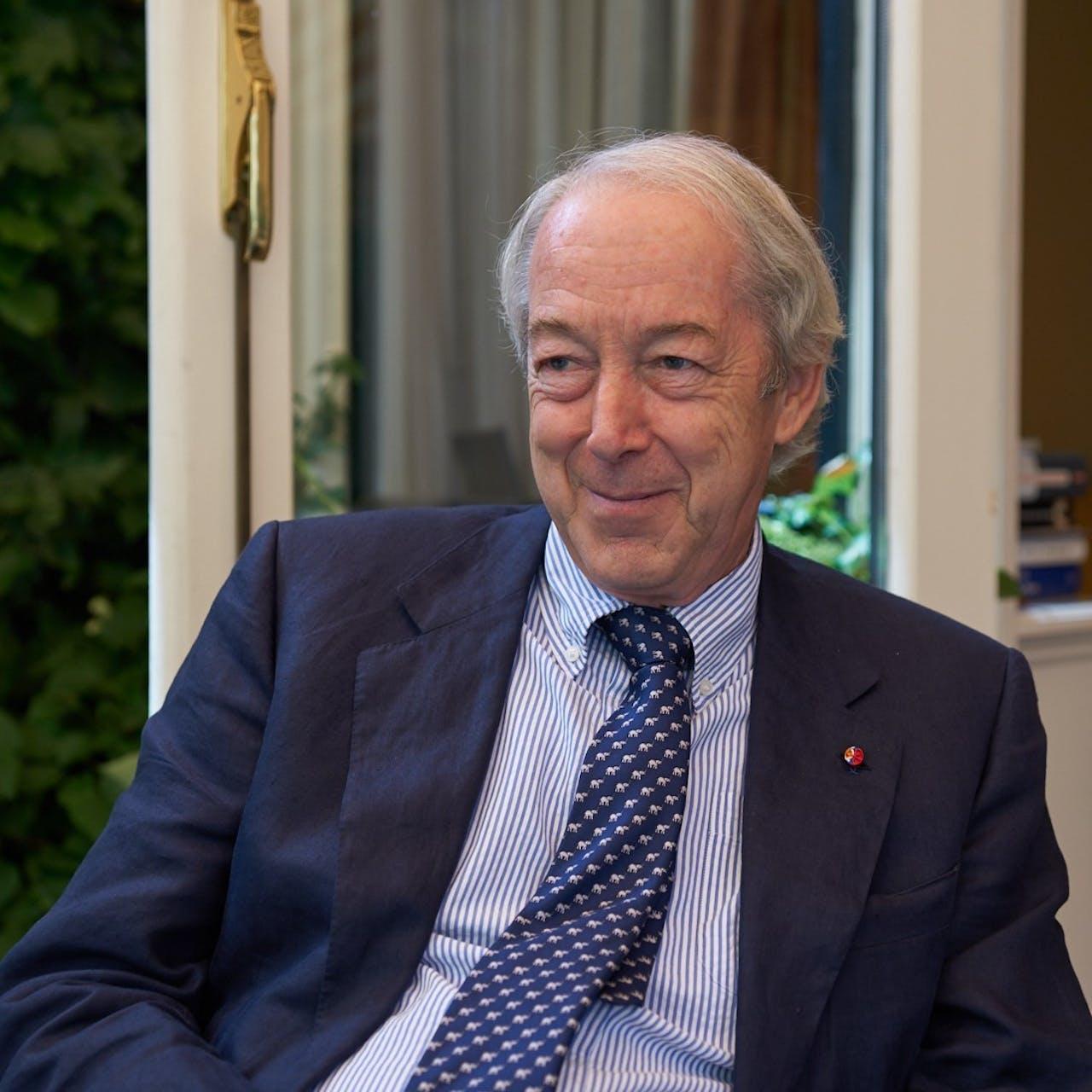 Frits Duparc, voormalig directeur Mauritshuis en verwerver van het schilderij.