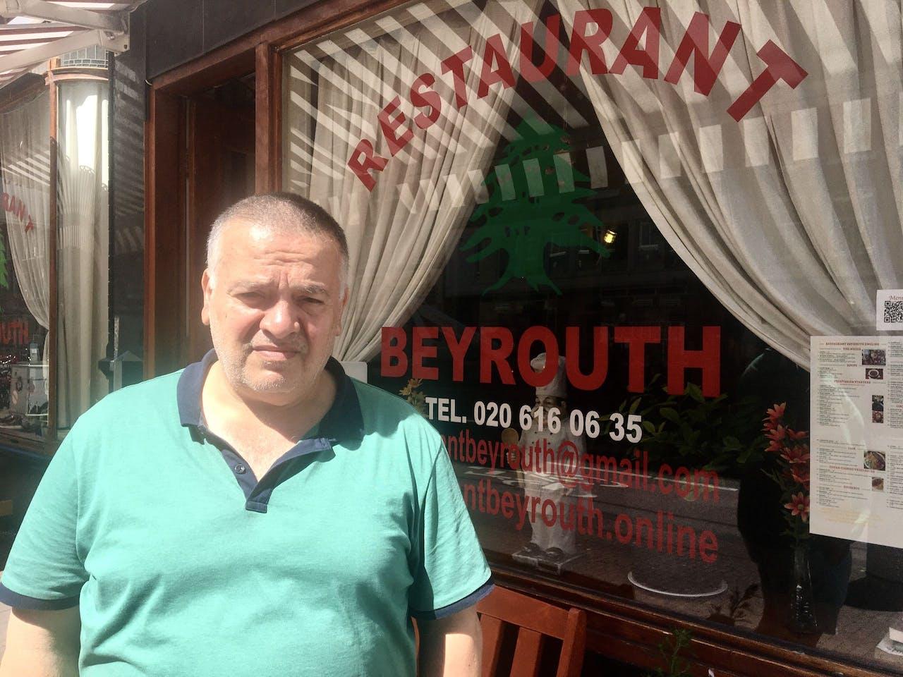 Uitbater van restaurant Beyrouth Kamal Estephan