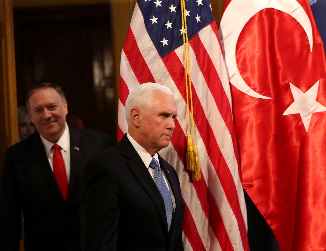Vicepresident Mike Pence en minister van Buitenlandse Zaken Mike Pompeo