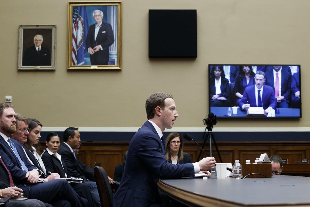 CEO van Facebook Mark Zuckerberg moest vorige week al voor een hoorzitting van de Amerikaanse senaat verschijnen.