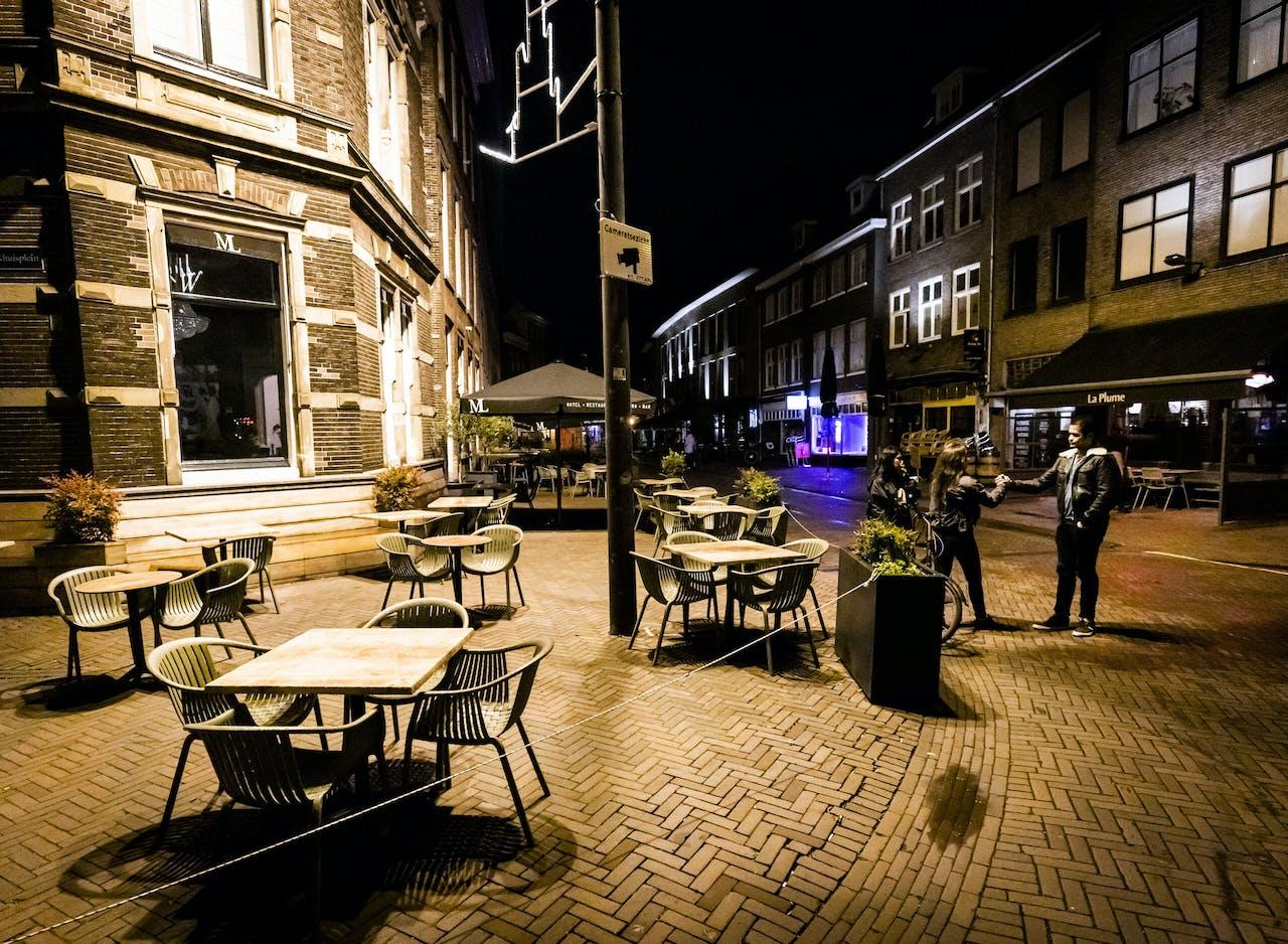 Lege terrassen in Haarlem