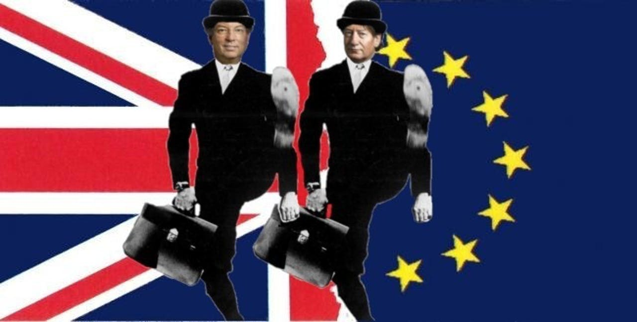 Boekestijn en De Wijk zwaaiden vannacht in een extra uitzending de Britten uit