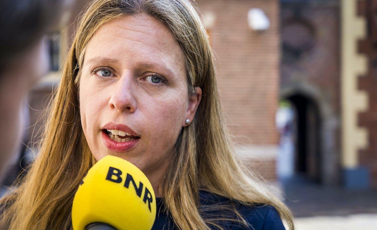 Minister van Landbouw Carola Schouten komt aan op het Binnenhof voor de wekelijke ministerraad.