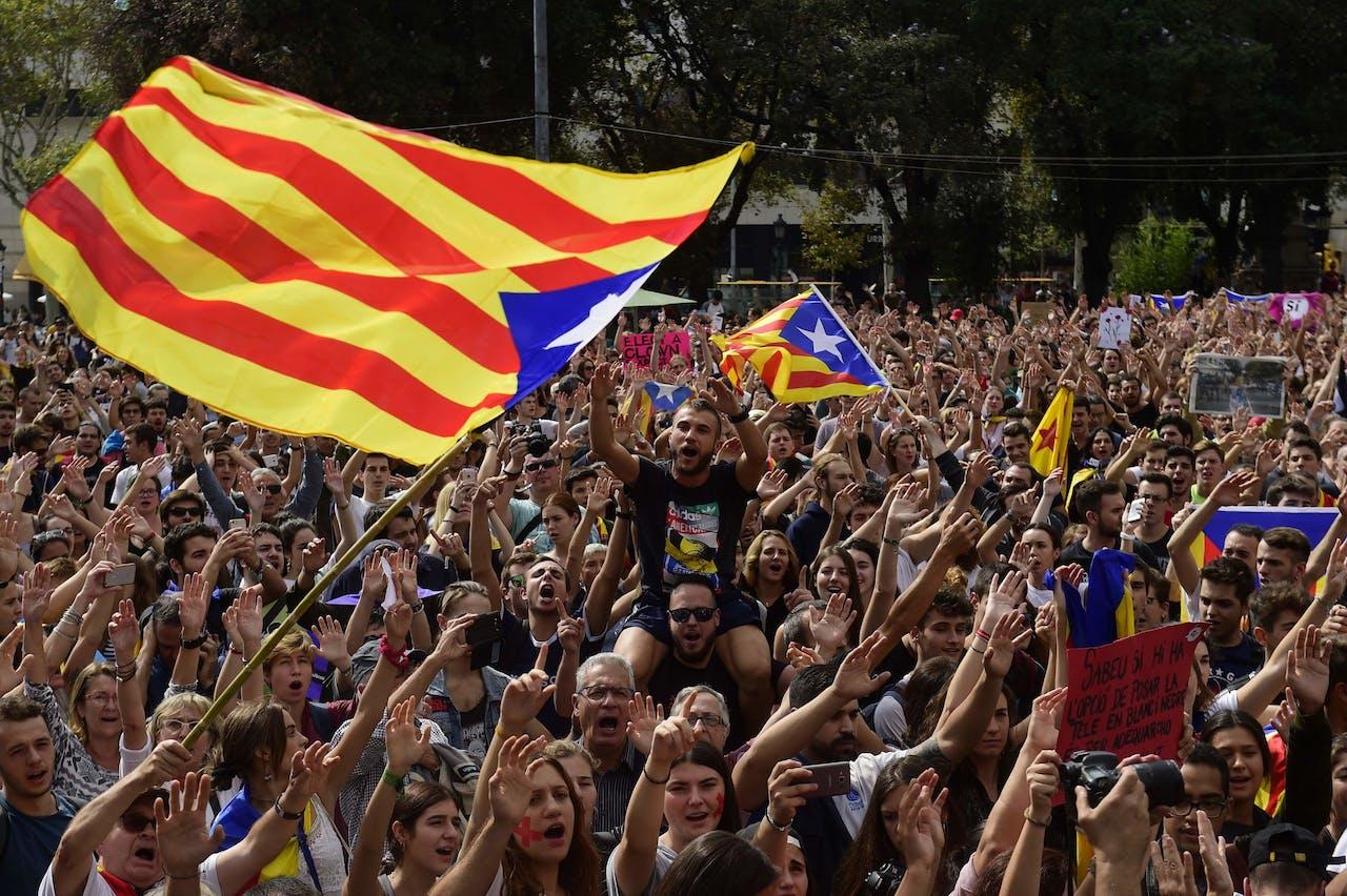 Betoging in Barcelona, maandag
