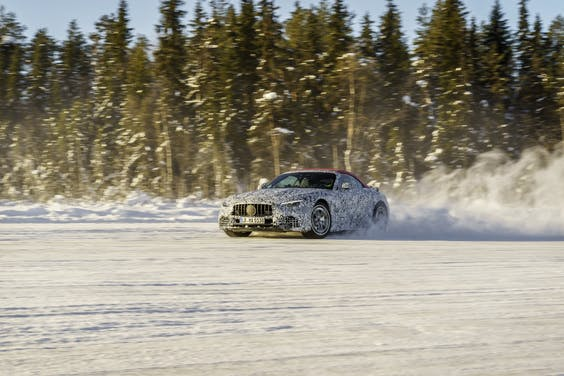 Mercedes SL in laatste testfase