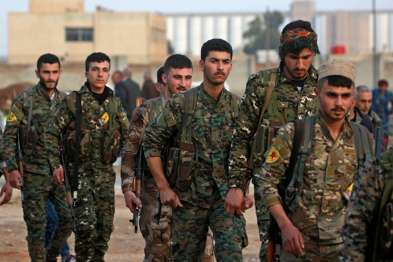 YPG-milities verplaatsen zich in Syrië