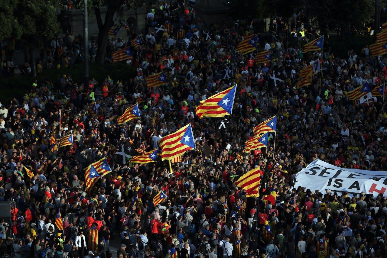 Demonstratie in Barcelona, 1 oktober 2018.