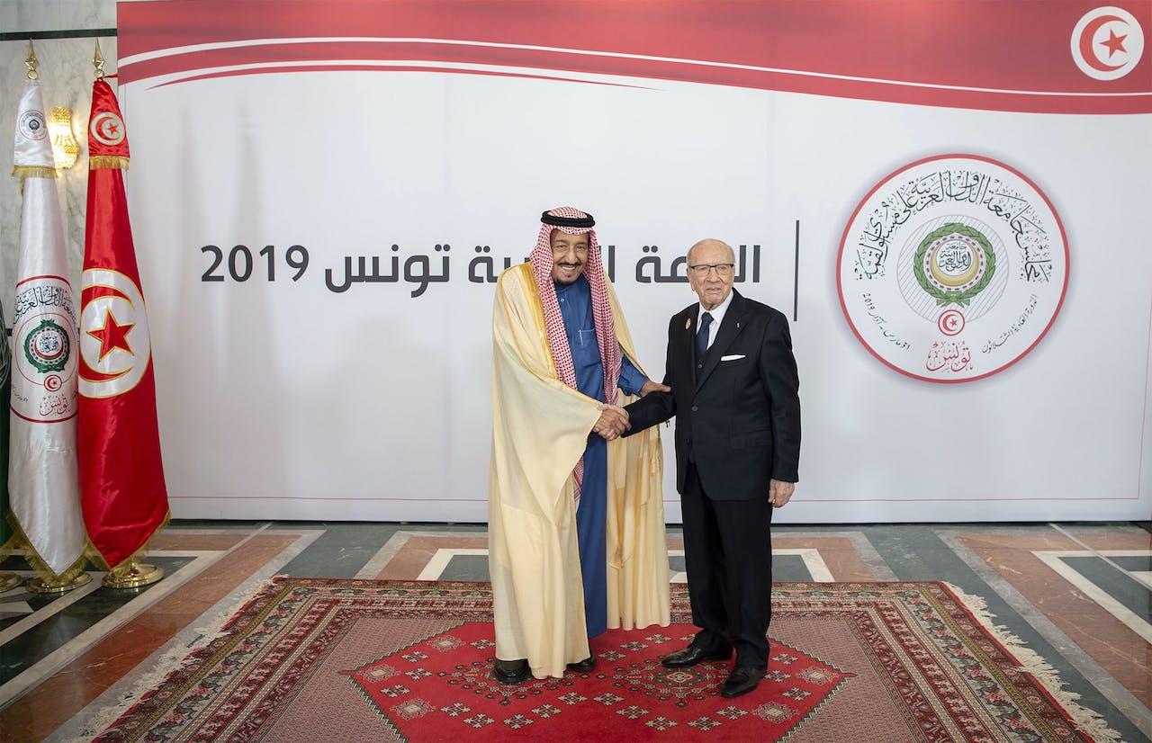 Koning Salman bin Abdulaziz (links)