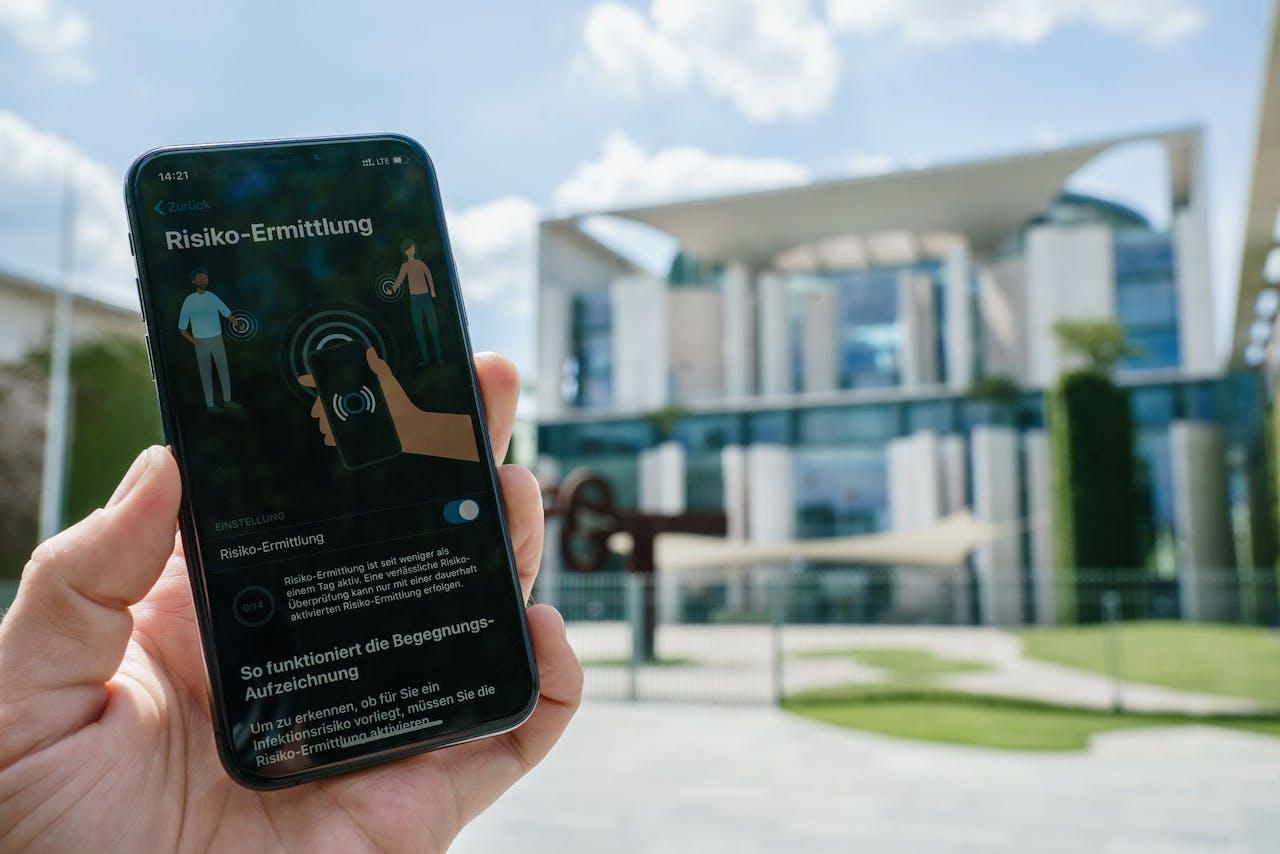 De Duitse 'Corona Warn-App'