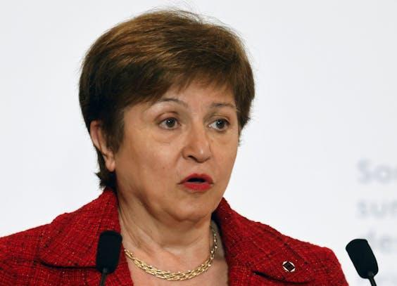 Kristalina Georgieva, topvrouw van het IMF.