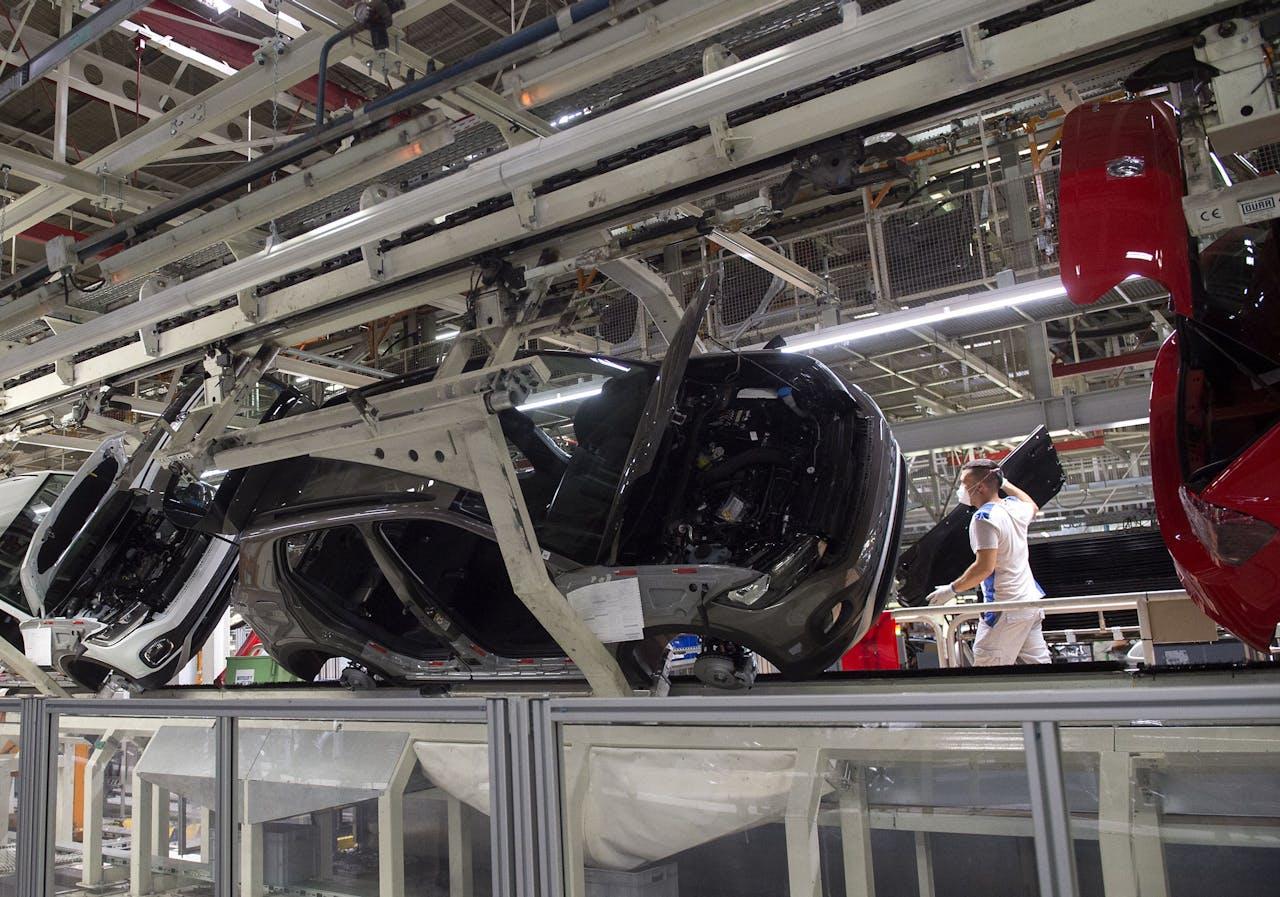 Een Volkswagenfabriek