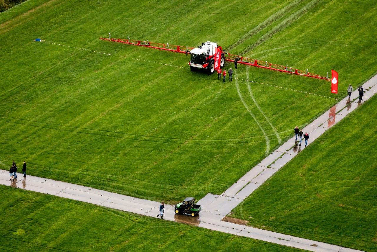 Luchtfoto van landbouwbeurs Agrotechniek Holland