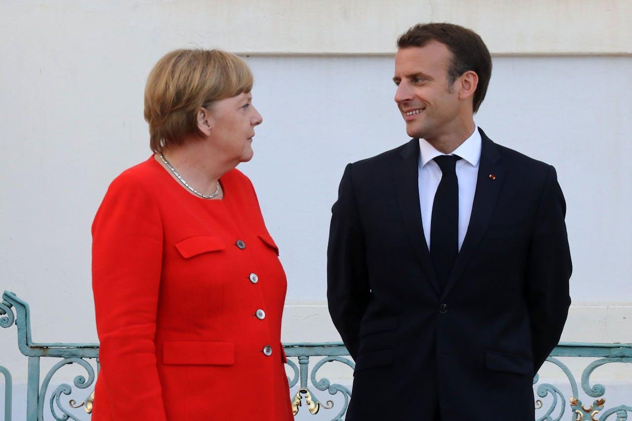 Angela Merkel en Emmanuel Macron kunnen het prima met elkaar vinden.