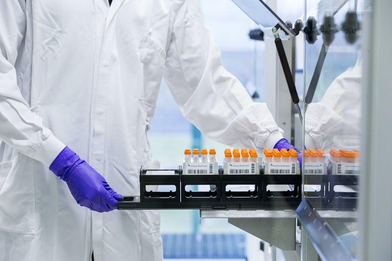DNA-materiaal in een laboratorium.