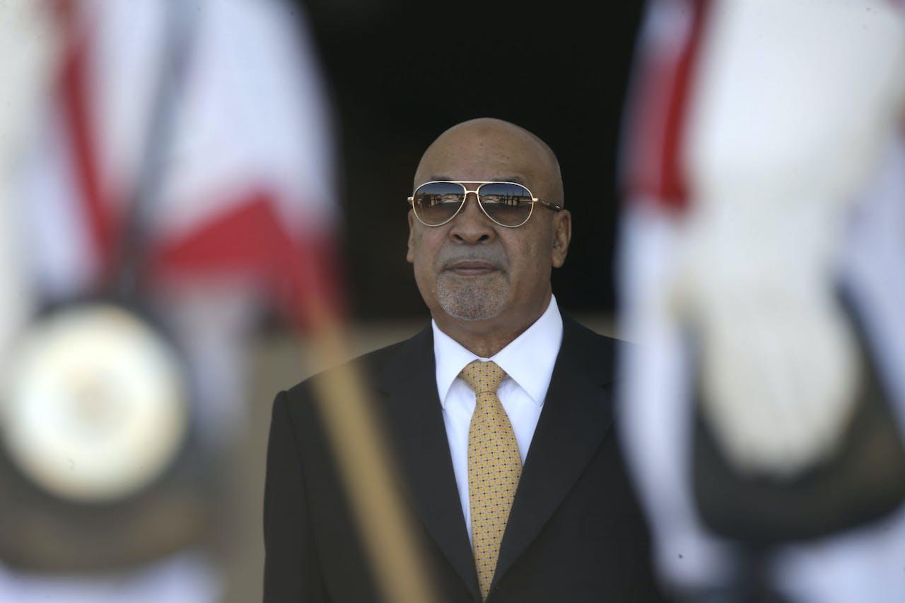 Surinaamse president Desi Bouterse (foto EPA/JOEDSON ALVES)
