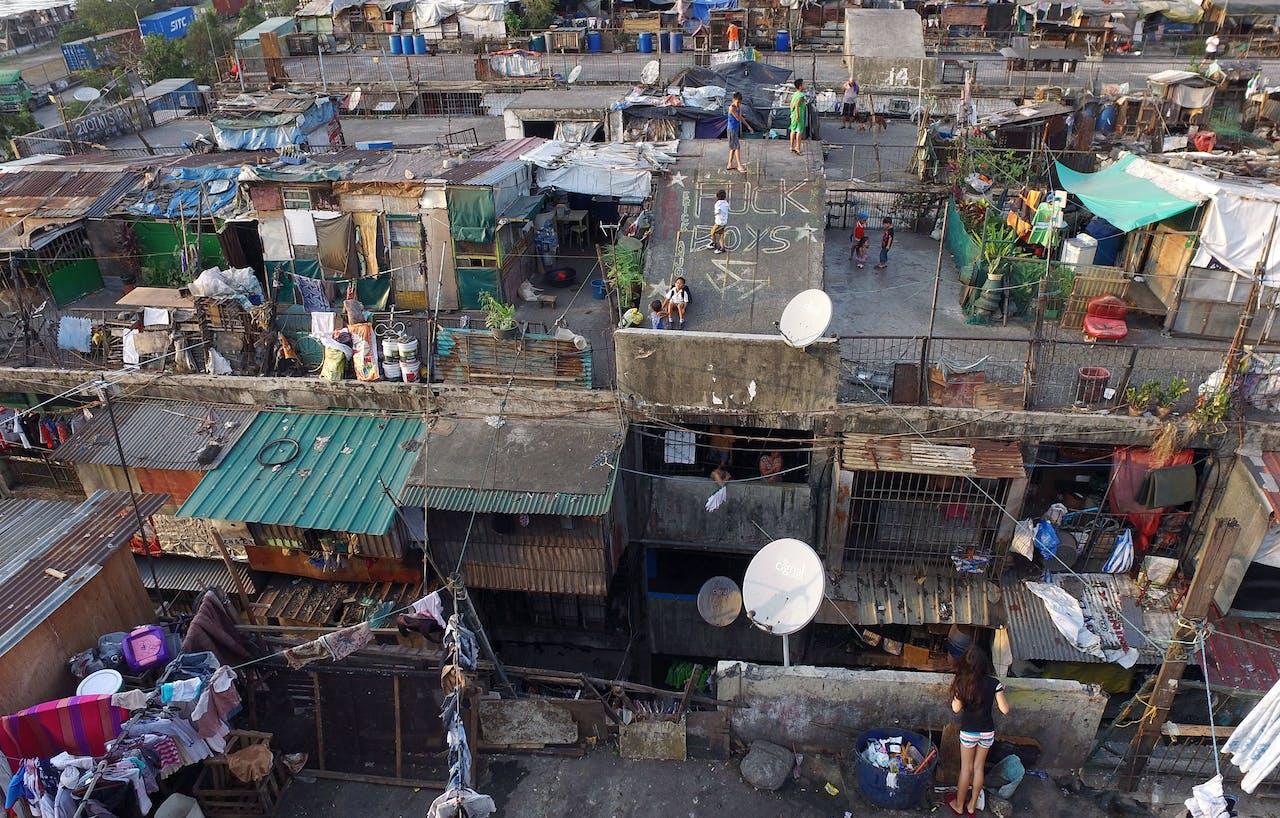 Sloppenwijk in de Filipijnse hoofdstad Manila