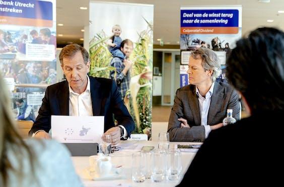 Wiebe Draijer en CFO Bas Brouwers