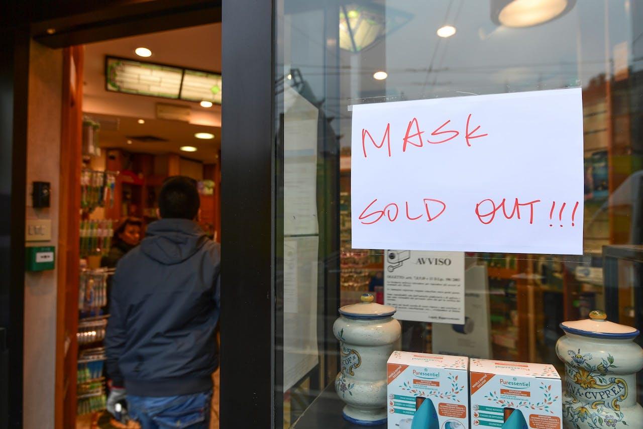 Geen mondkapjes meer in Milaan