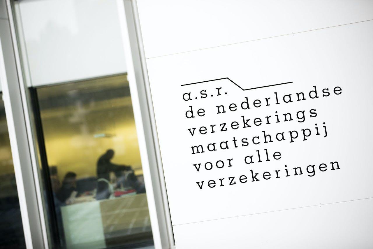 Exterieur van het gebouw van verzekeraar a.s.r. na de bekendmaking van de halfjaarresultaten.