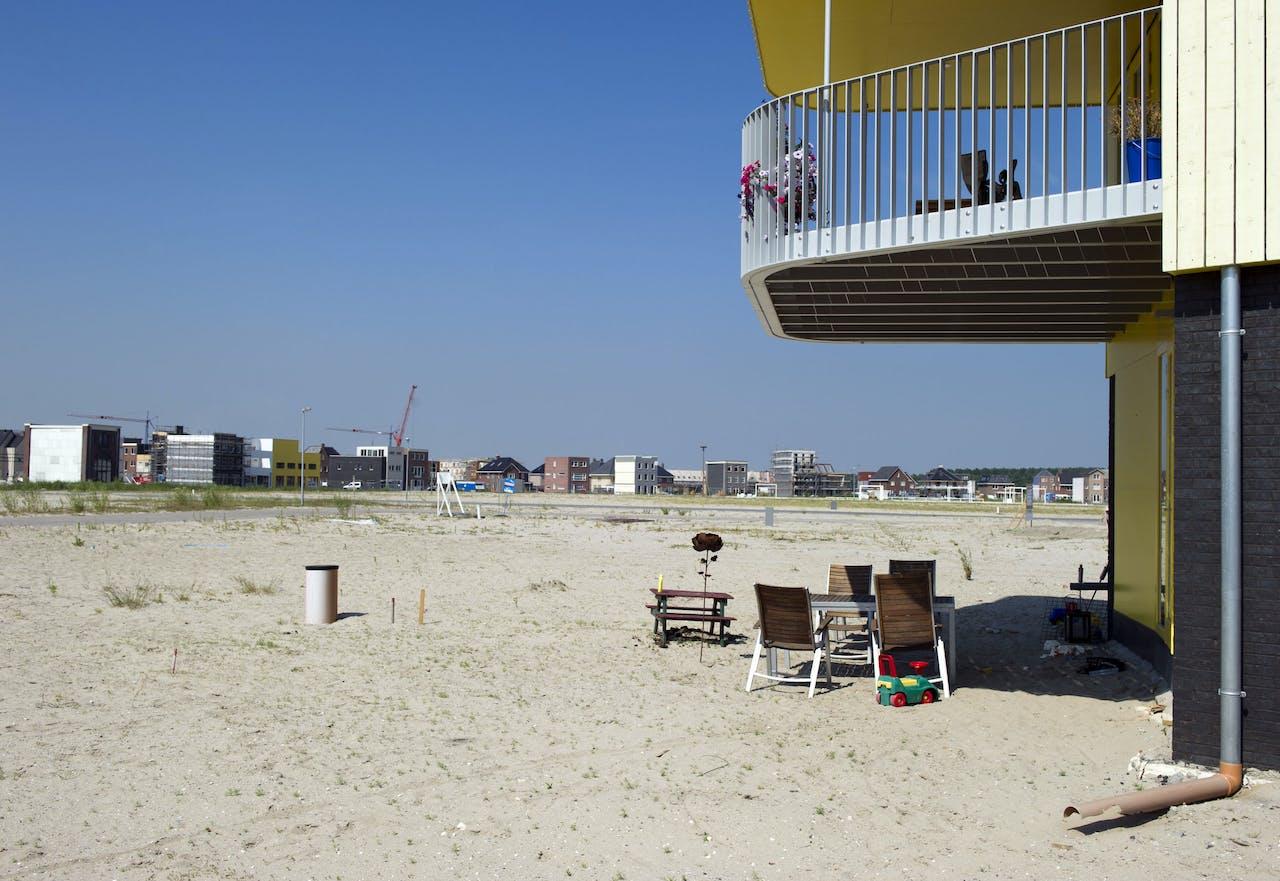 De jongste nieuwbouwwijk van Almere, Almere Poort, is voorlopig het laatste kustgebied waar grootschalig gebouwd wordt.ANP XTRA LEX VAN LIESHOUT