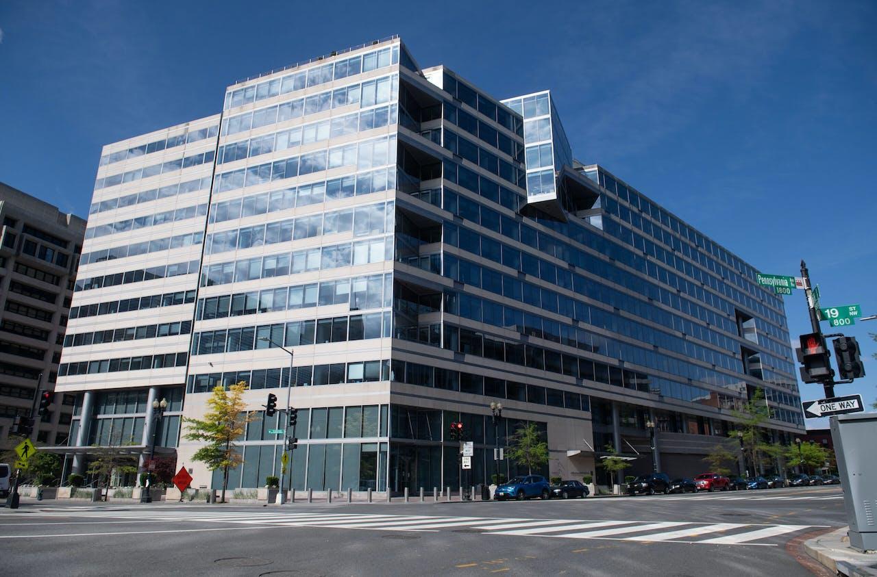 Het hoofdkantoor van het IMF in Washington.