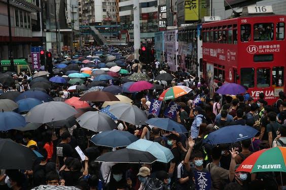 Het regent regels in Hong Kong