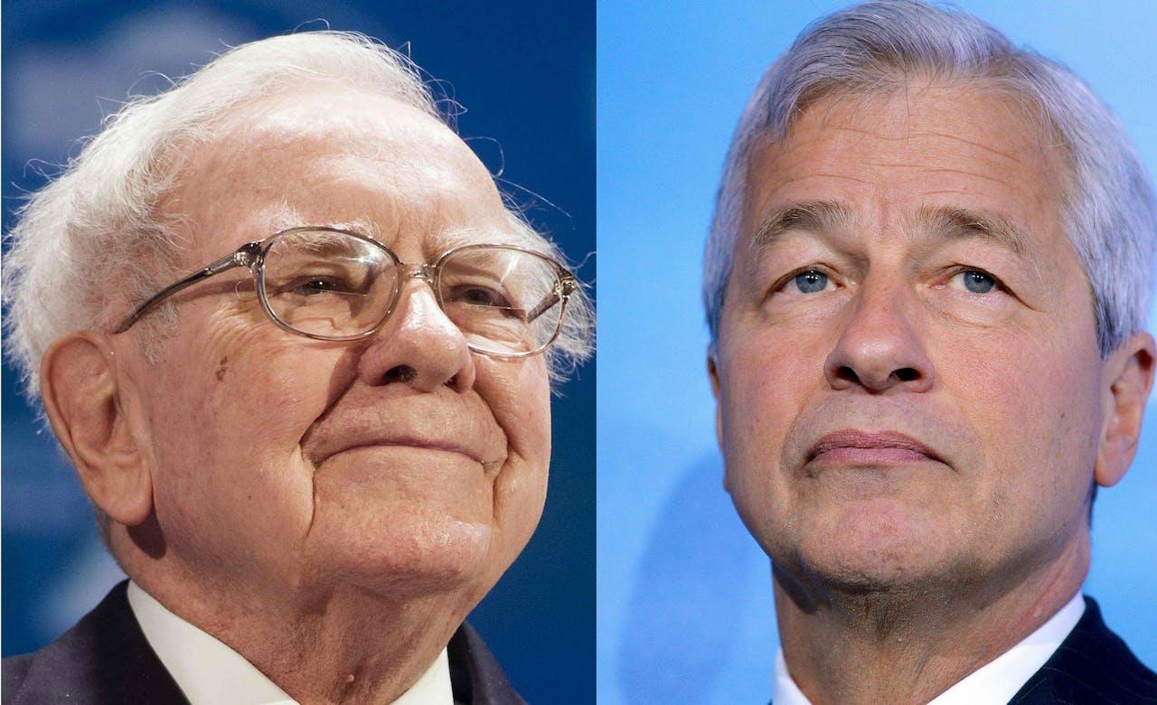 Warren Buffett en Jamie Dimon