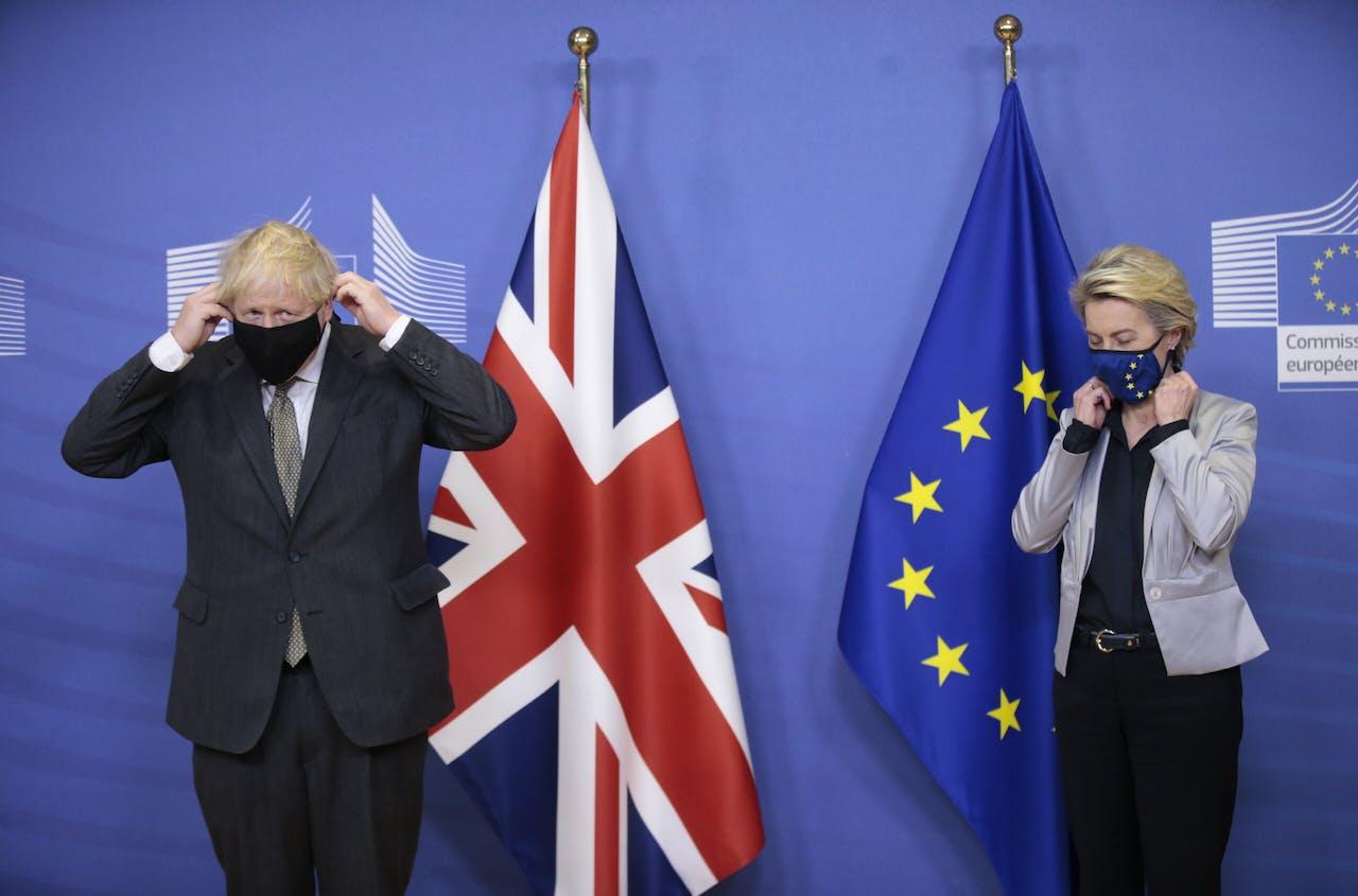 Minister Boris Johnson en Ursula von der Leyen