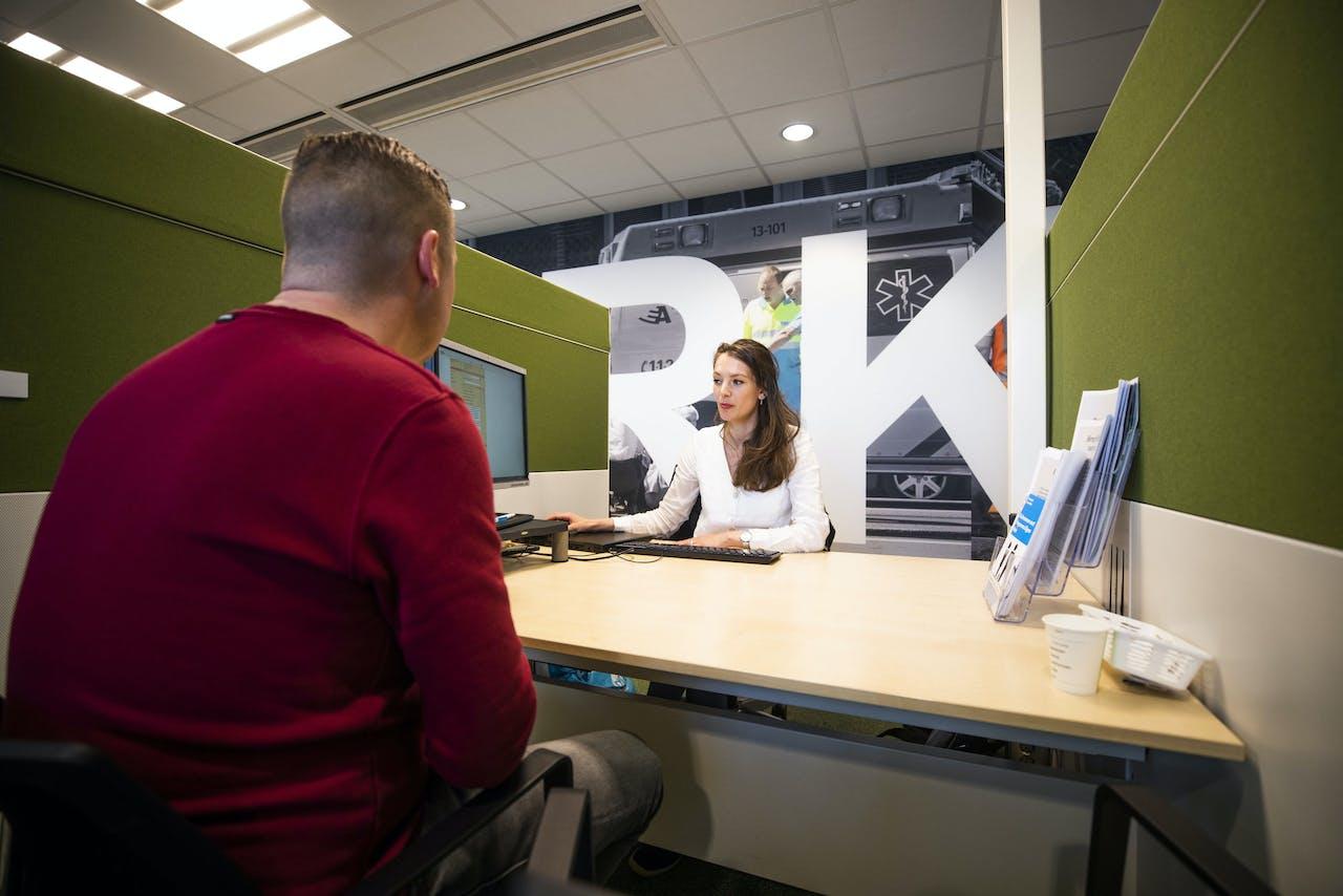 AMSTERDAM - Interieur werkbedrijf UWV, locatie Delflandlaan. ANP JEROEN JUMELET