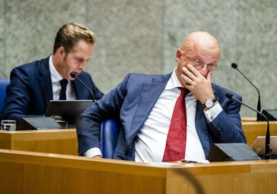 Ferdinand Grapperhaus, minister van Justitie en Veiligheid, tijdens een debat in de Tweede Kamer over de aanpak van de coronacrisis.