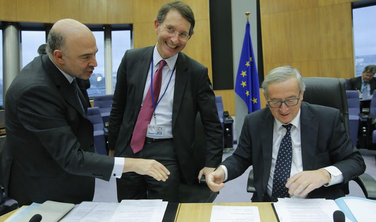 Alexander Italianer (midden), naast Jean Claude Juncker (rechts)