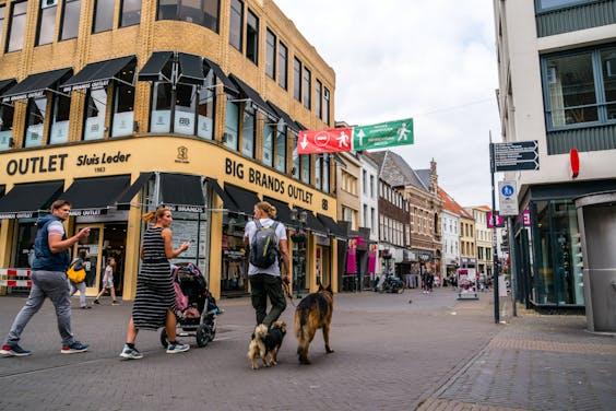 Een winkelstraat in Venlo