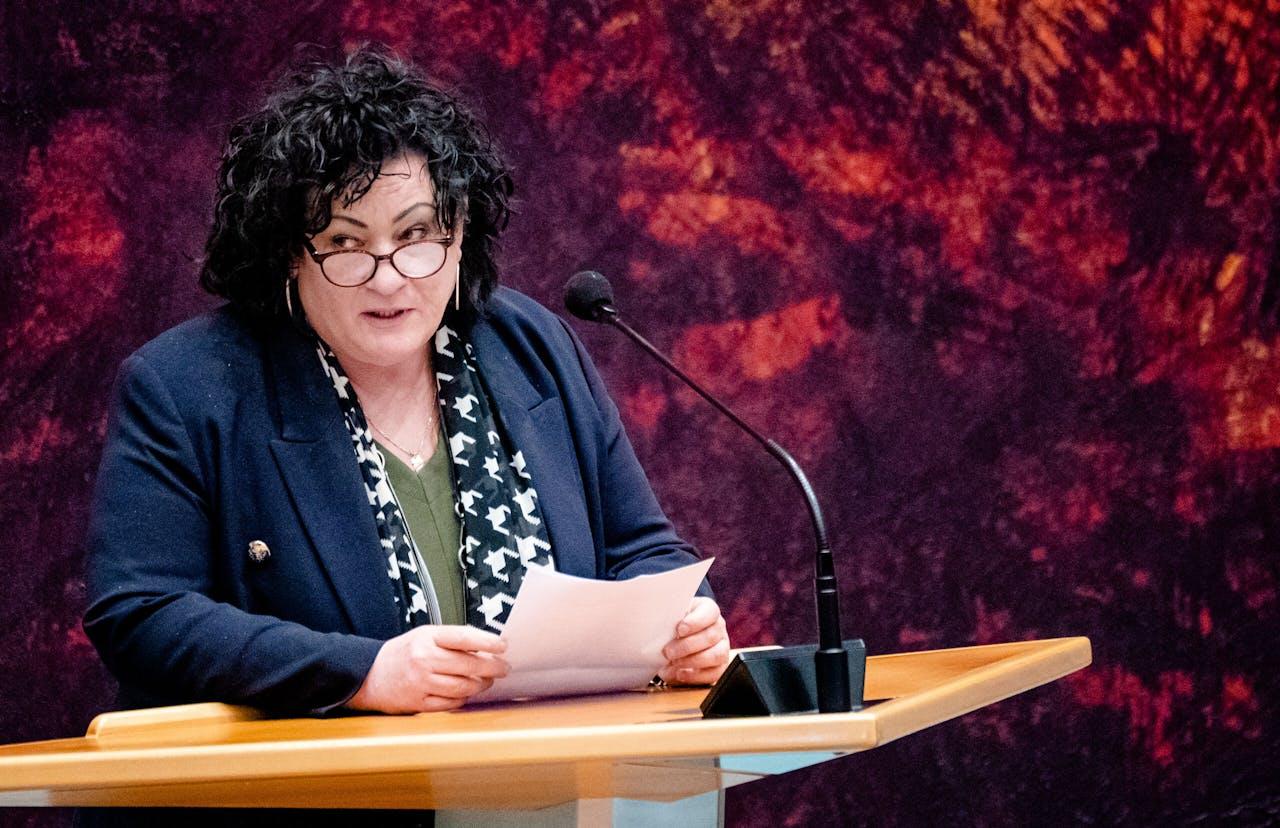 DEN HAAG - Caroline van der Plas (BBB) in de Tweede Kamer tijdens een debat over de ontwikkelingen rondom het coronavirus. ANP BART MAAT